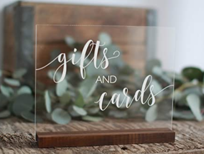 Cards & Gift Acrylic Sign