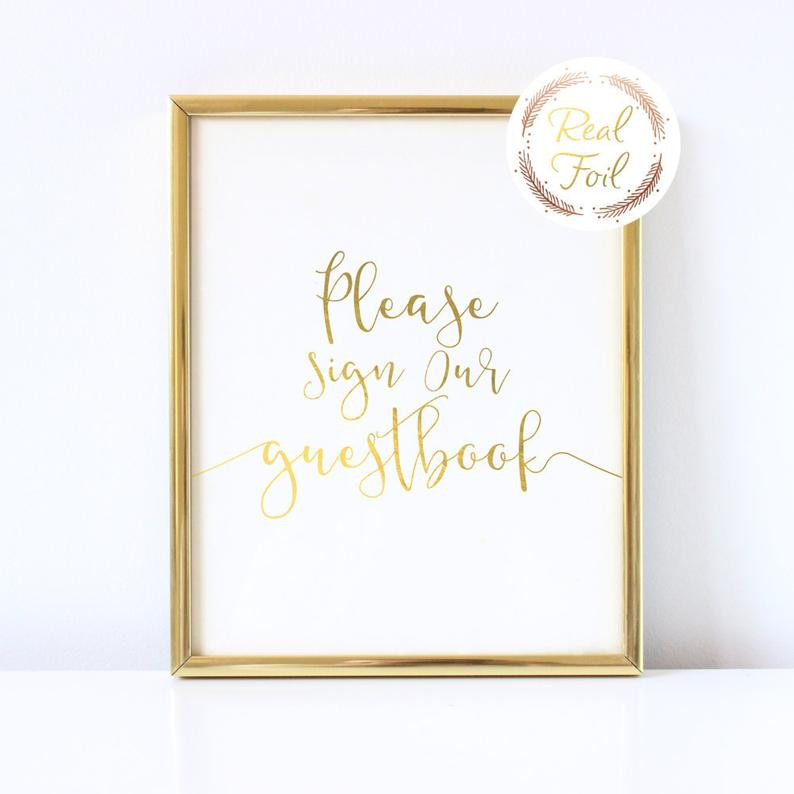 Please Sign our Guestbook Sign - Linen Paper - 5x7 or 8x10