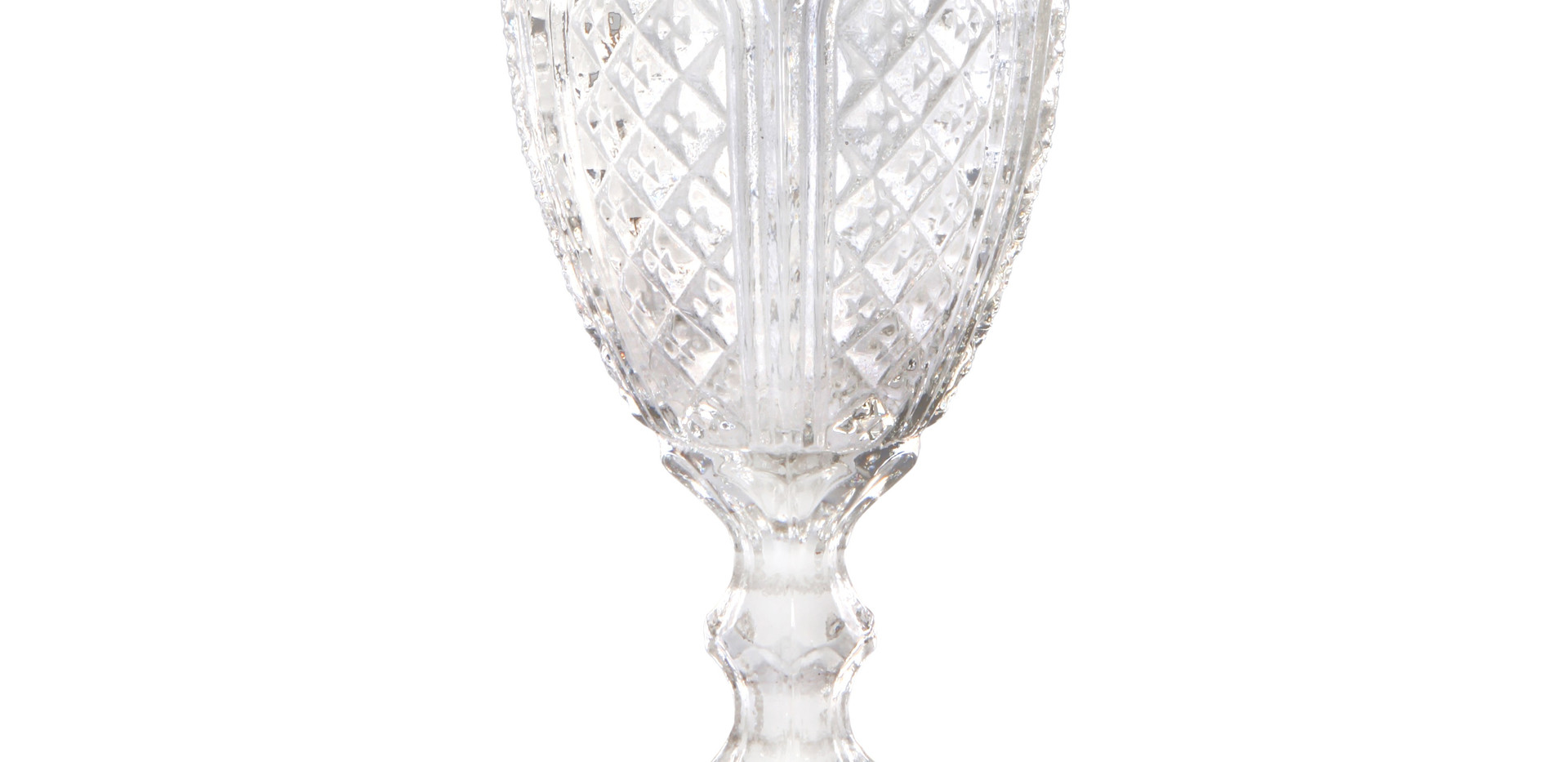 Clear Vintage Goblet