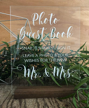 Photo Guestbook Acrylic Sign