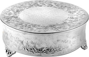Silver Ornate Round Cake Stands