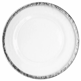 Silver Hammered Rim Charger Plate
