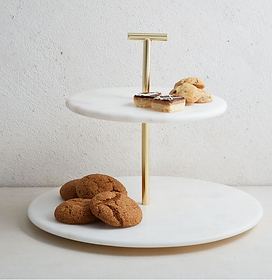 Marble & Brass 2-Tier Stand