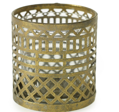 """Persian Gold Candle Holder - 3.25""""x3.5"""""""