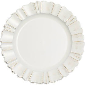 Waved Scalloped Acrylic Charger Plate