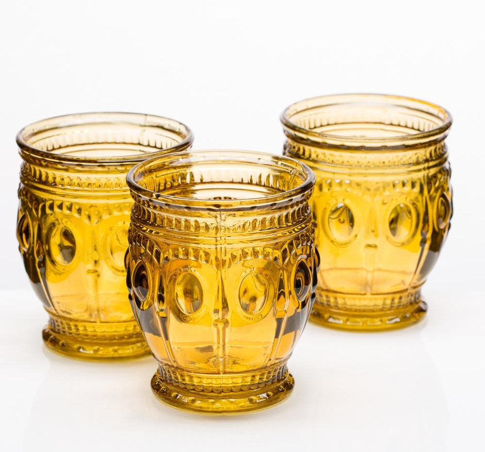 Amber Votive Holders