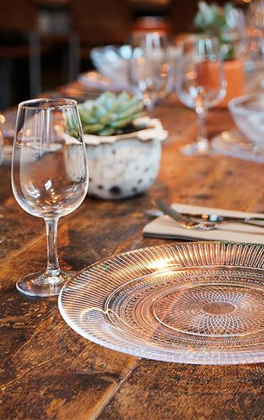 Clear Luminarc Louison Glass Dinnerware.