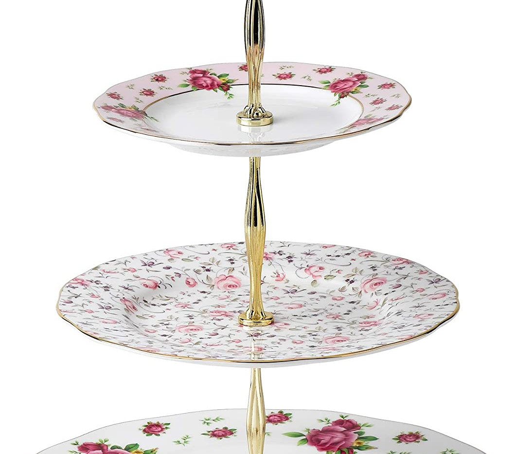 Country Floral 3 Tier Stand