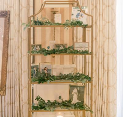 Gold Display Shelf
