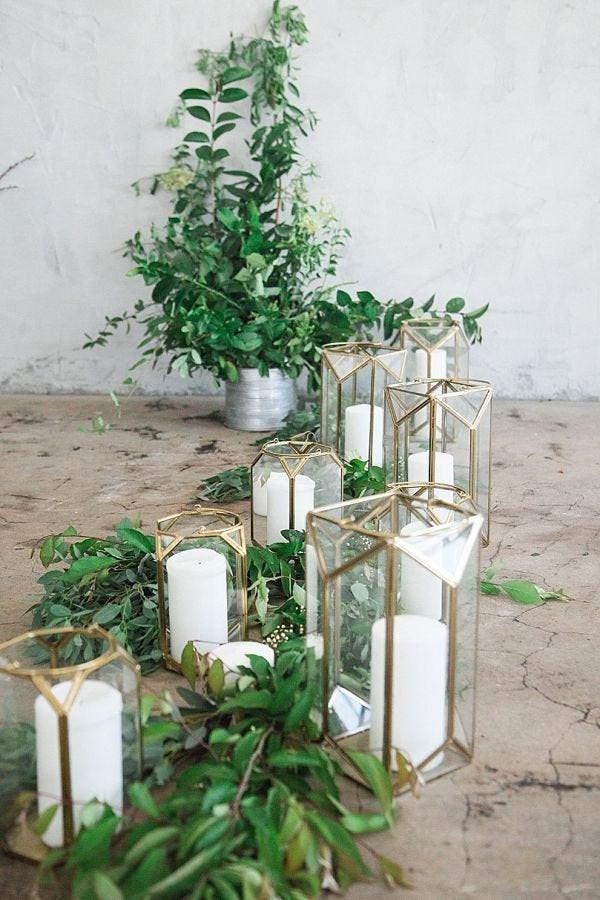 Geometric Gold Lanterns