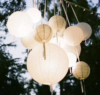 White & Ivory Lanterns