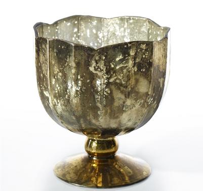 "Mallory Vases - Gold - 5.75"" X 6.5"""