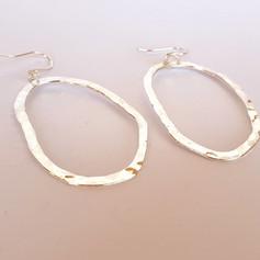 hammered loop earrings