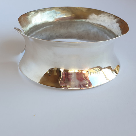 hammered and shaped cuff