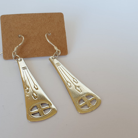 recycled spoon earrings