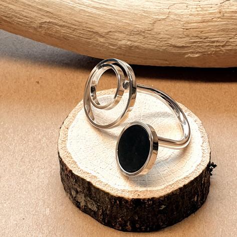 rings and ebony ring