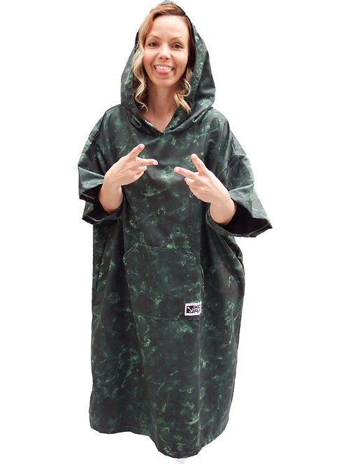 Marble green poncho