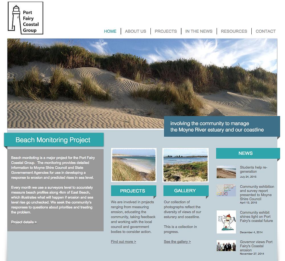 the Port Fairy Coastal Group home page