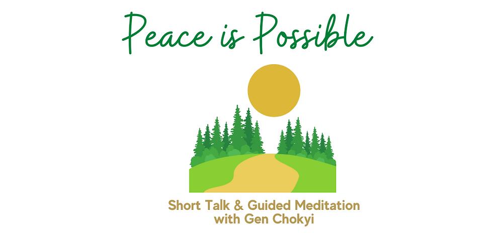 Sunday Outdoor Talk & Meditation