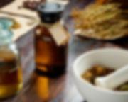 apothecary vintage set of bottles, herbs