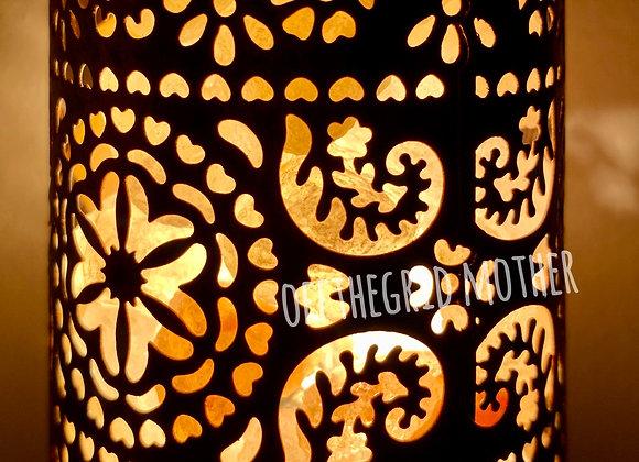 Himalayan Shadow Lantern Nightlight - Moroccan Cylinder