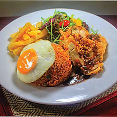 Fried Rice with Chicken Chop