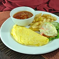 Omelette and Chips