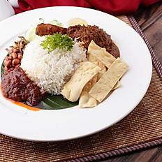 OMK Nasi Lemak Chicken Rendang