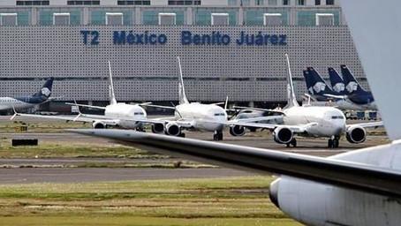 Aviación mexicana con caídas de más 50% en vuelos nacionales y casi 60% en internacionales