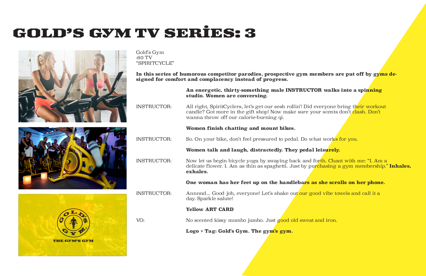 Gold's Gym - TV 3
