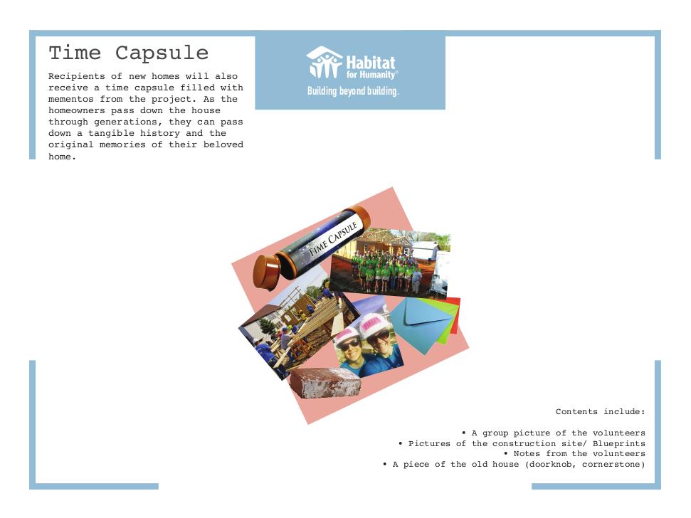 Habitat for Humanity - Time Capsule