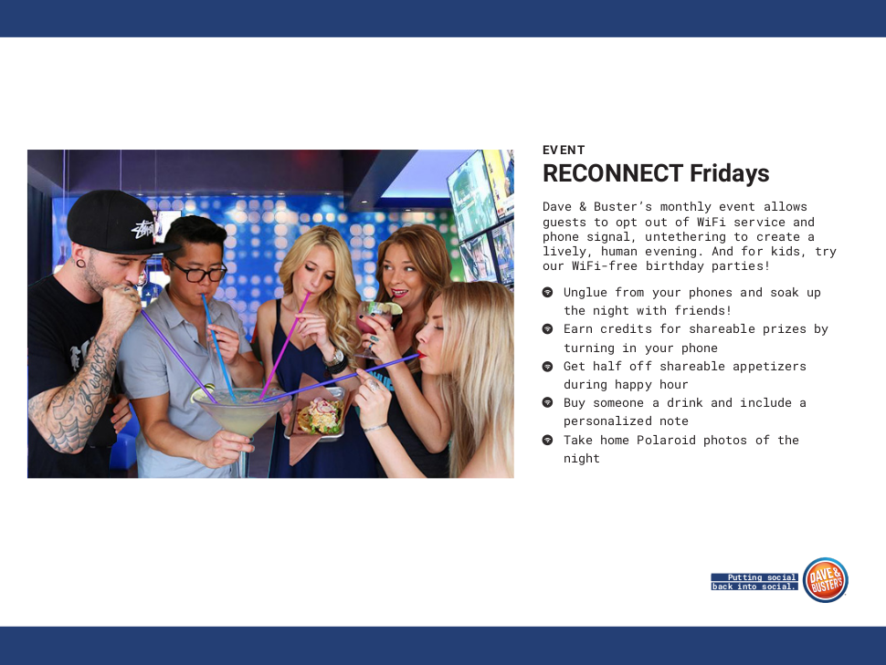 Dave & Buster's - RECONNECT Fridays