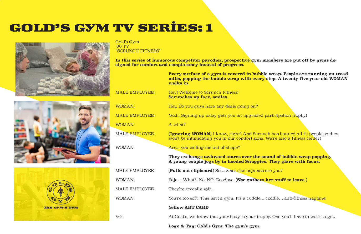 Gold's Gym - TV 1
