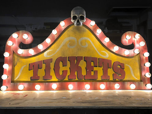 CARNIVAL TICKETS Globe Lighted Sign