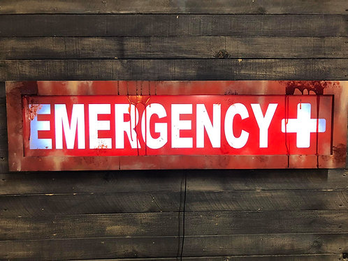 EMERGENCY Lighted Sign