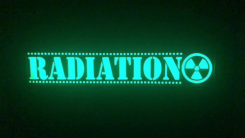 RADIATION Lighted Sign with Effects Controller!