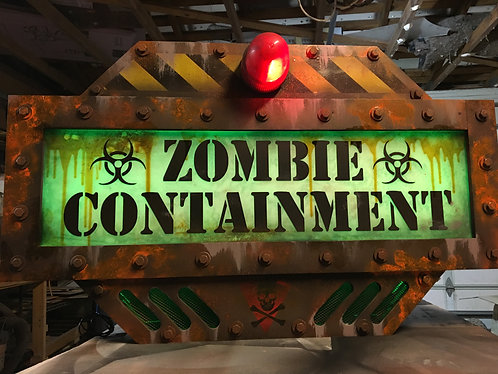 Zombie Containment with LED controller and Flashing Beacon Light