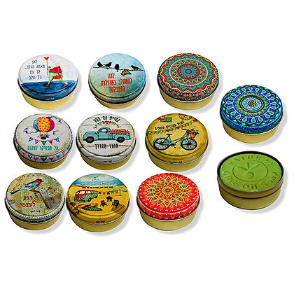Designed Tin Box With Olive Oil Soap