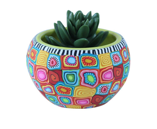 Colorful Round Small Plant Pot