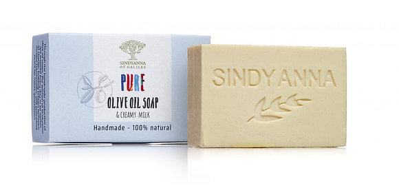 סבון משמן זית עם תוספת חלב