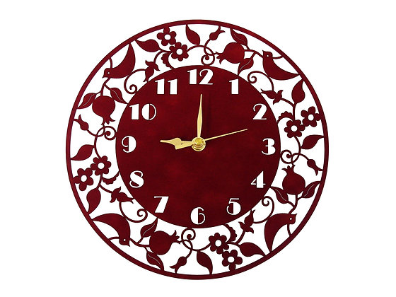 שעון דקורטיבי עגול