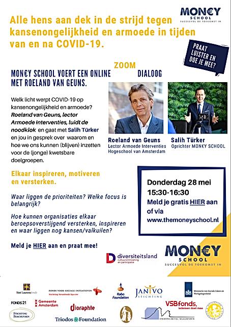 Flyer Zoom Dialoog 28 mei 2020 met Roela