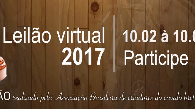 1ªLEILAO VIRTUAL DO CAVALO BRETÃO E RAÇAS CONVIDADAS