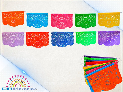 Paquete con 10 de plástico picado Multicolor tamaño un cuarto