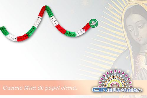 Gusano de papel china Tricolor, Mini y Grande. Paquete con 10 Tiras
