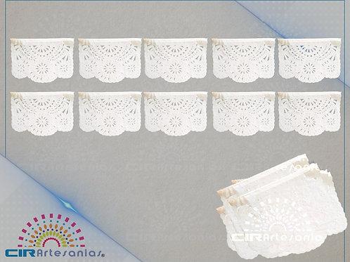 Paquete con 10 de plástico picado blanco tamaño un cuarto