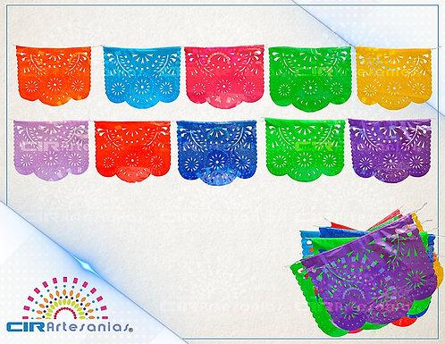 Paquete con 10 tiras de plástico picado Abstracto Multicolor