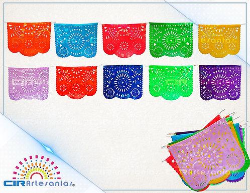 Paquete con 10 tiras de plástico picado Abstracto 2 Multicolor