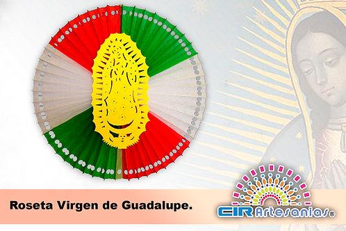 Roseta Virgen de Guadalupe. Paquete con 10 piezas
