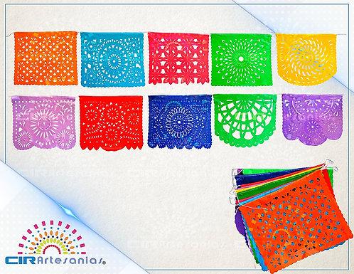 Paquete con 10 tiras de plástico picado Abstracto 10 Multicolor